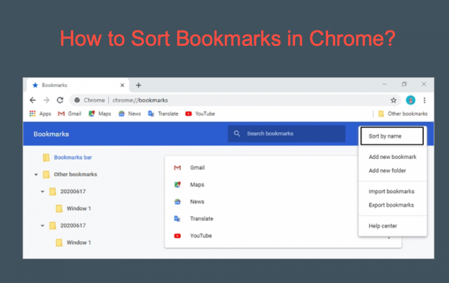 How to Sort Bookmarks in Google Chrome?