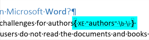 Index Format in Word