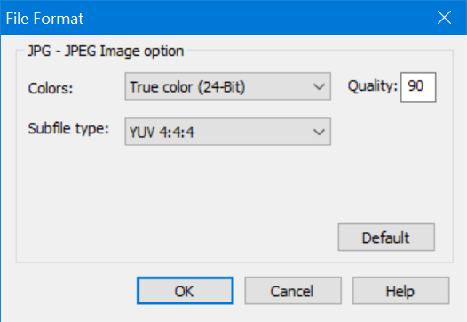 JPG Image Quality in Snagit