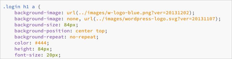 Login CSS in WordPress