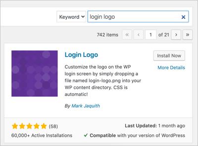Login Logo Plugin
