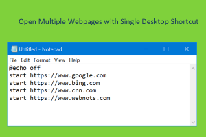 Open Multiple Webpages with Single Desktop Shortcut