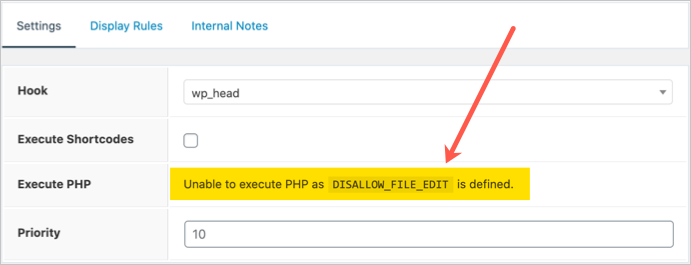 PHP Execution Disabled in GeneratePress