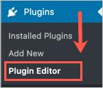 Plugin Editor Menu