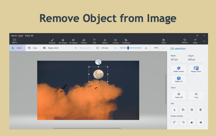 How to Remove Objects from Image in Windows 10?