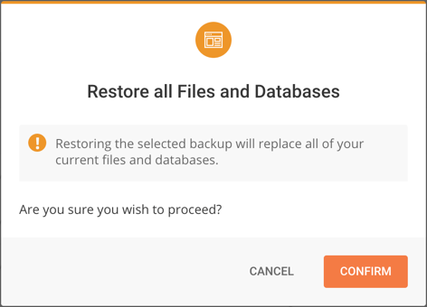 Restore All Files and Databases