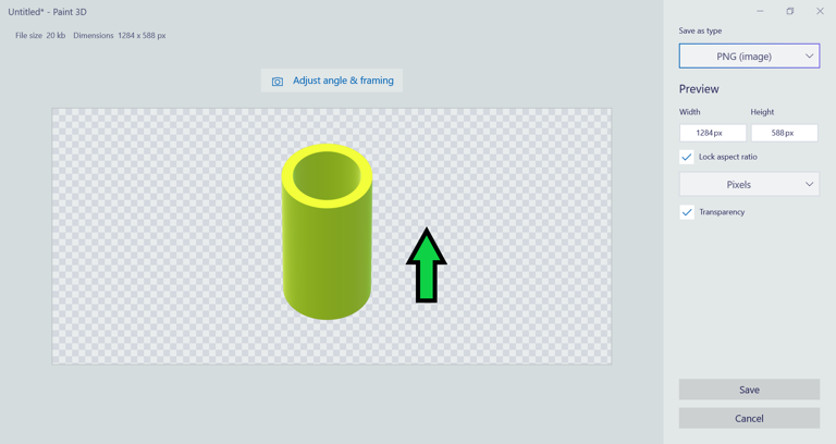 Save 3D Drawing with Transparent Background