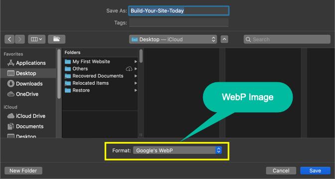 Save WebP Image