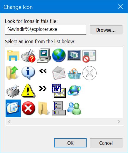 Select Shortcut Icon