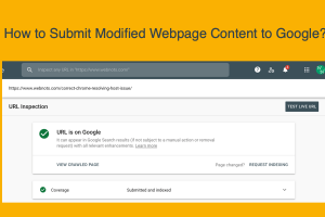 Submit Modified Webpage Content to Google