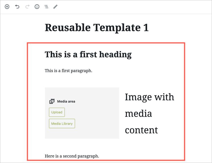 Add Blocks to Create a Template