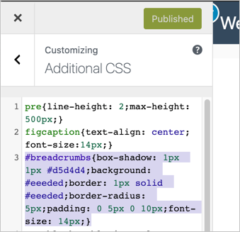 Add Custom Breadcrumb CSS