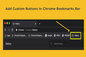 Add Custom Buttons in Chrome Bookmarks Bar