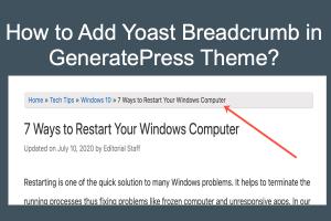 Add Yoast Breadcrumb in GeneratePress Theme