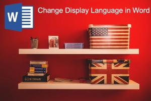Change Display Language in Word