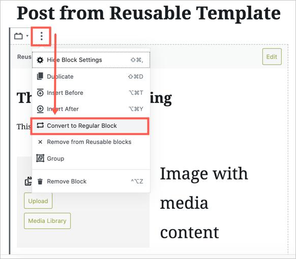 Converting Template to Regular Block