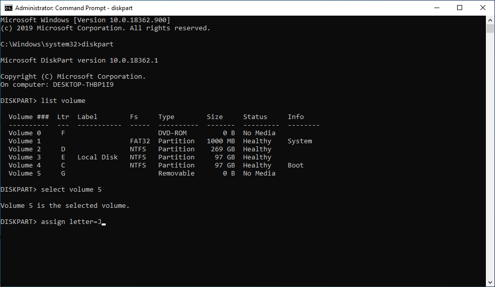 Diskpart Command Prompt