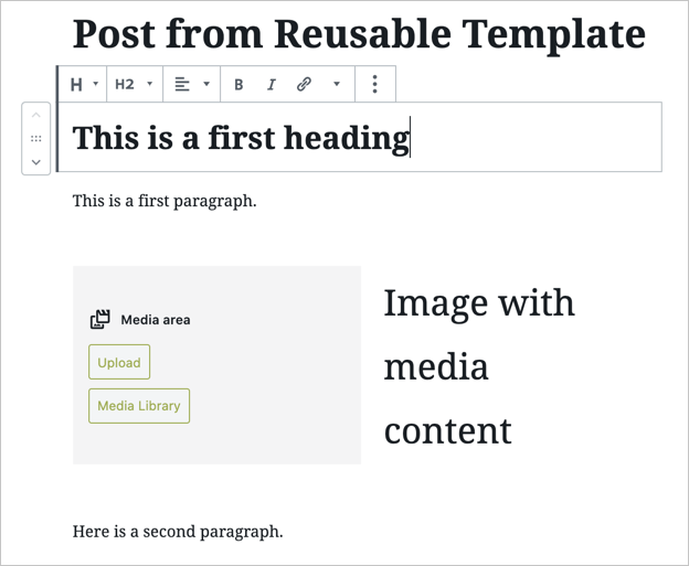 Editing Template Content as Individual Element
