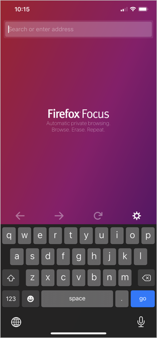 Firefox Focus iPhone App