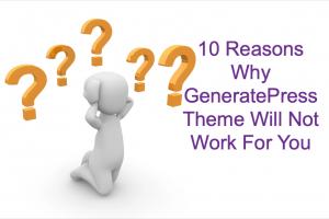 GeneratePress Theme Issues