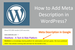How to Add Meta Description in WordPress?