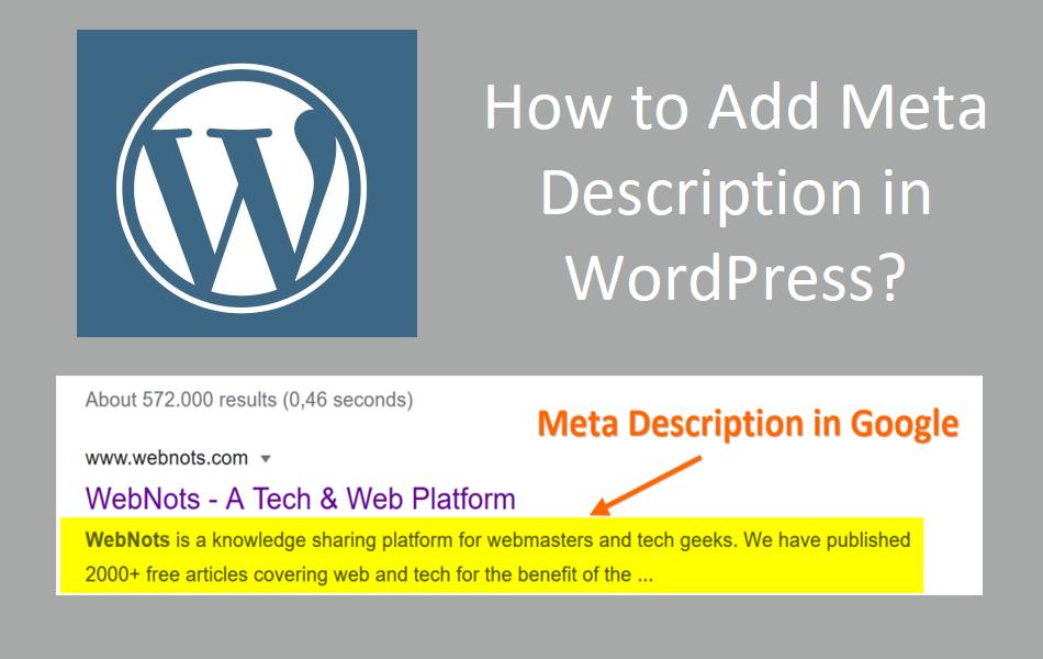 How to Add Meta Description in WordPress?