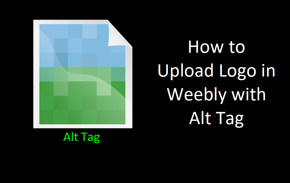 How to Upload Logo in Weebly with Alt Tag?