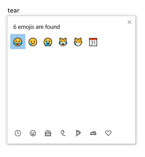 Insert Face with Tears of Joy Emoji in Windows