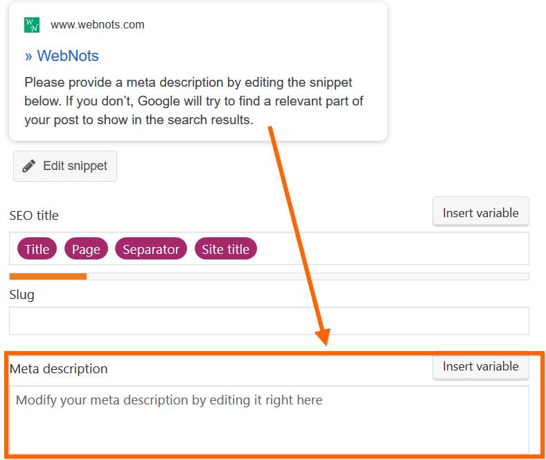 Meta Description Box in Post Editor
