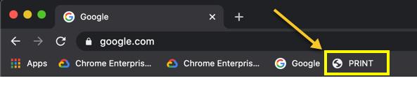 Print Button in Chrome Address Bar