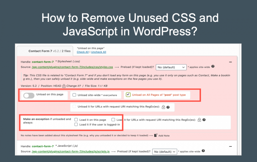 How to Remove Unused CSS and JavaScript in WordPress?