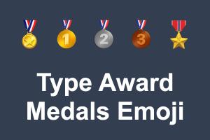 Type Award Medals Emoji