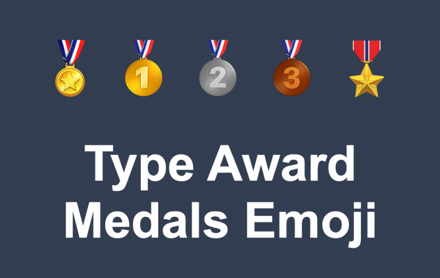 How to Type Award Medals Emoji with Keyboard?