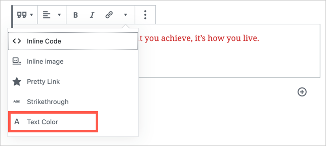 Change Text Color in Quote