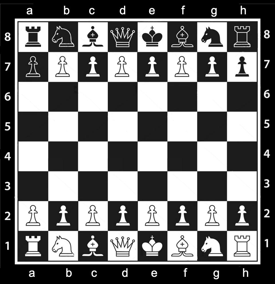 Шахматная доска с монетами