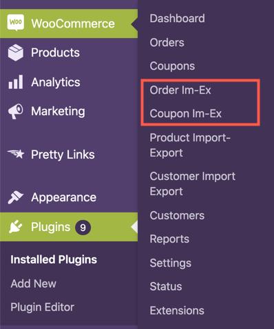 Export WooCommerce Orders