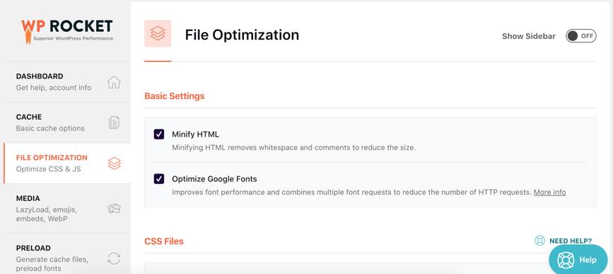 File Optimization