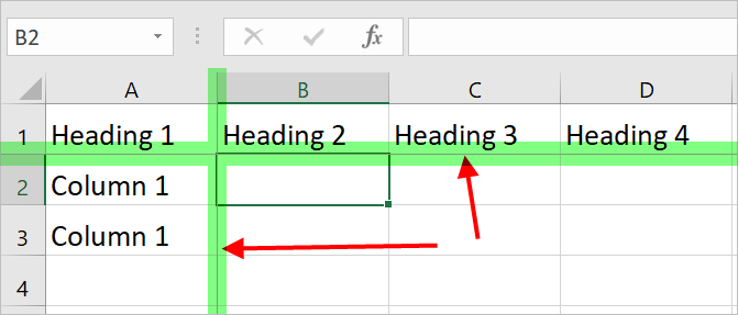 Freeze First Column and Row