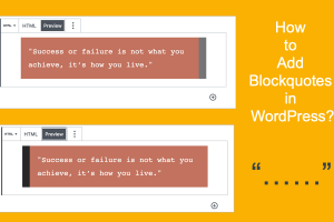 How to Add Blockquotes in WordPress?