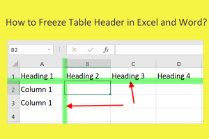 How to Freeze Table Header in Excel and Word?