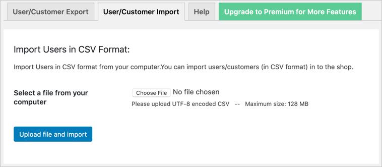 Import WooCommerce Users