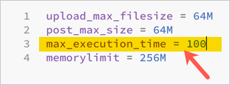 Increase PHP Max Execution Time in php.ini File