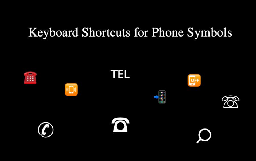 Keyboard Shortcuts for Phone Symbols
