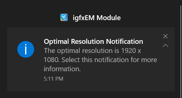 Optimal Resolution Notification
