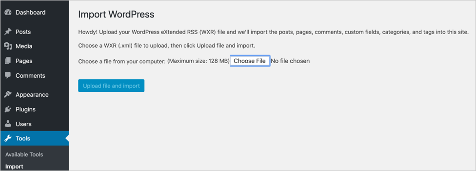 Run Import to Upload WooCommerce Files