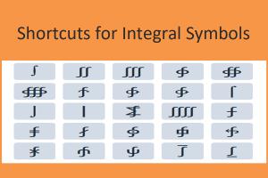 Shortcuts for Integral Symbols
