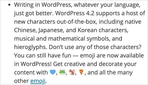 WordPress 4.2 Document