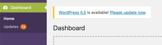 WordPress Core Update Available