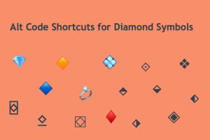 Alt Code Shortcuts for Diamond Symbols