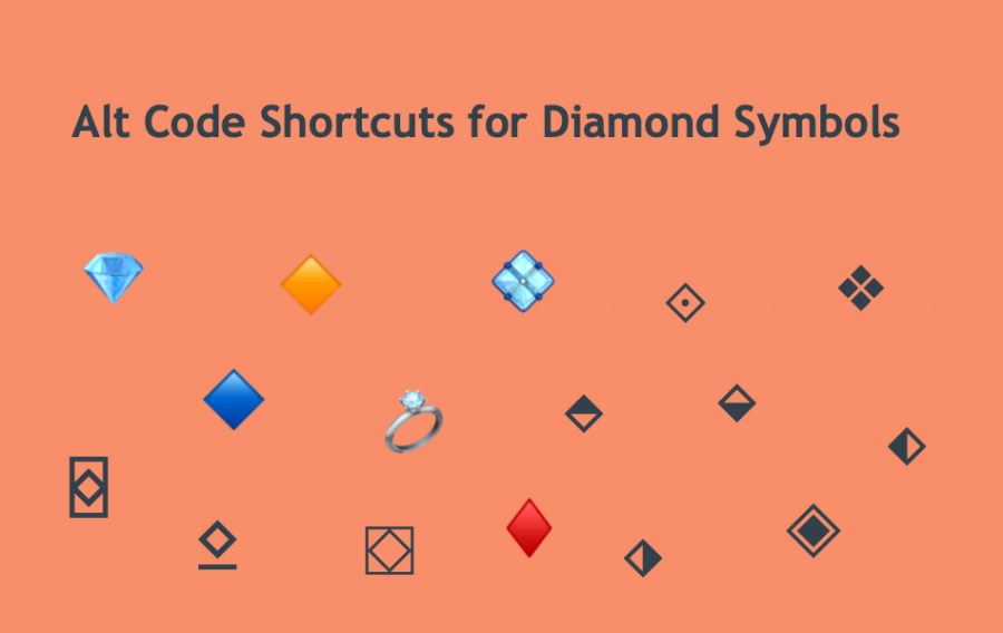 Alt Code Shortcuts for Diamond Symbols